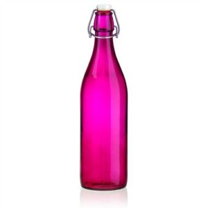 """1000ml Bügelverschlussflasche """"Tiffy"""" mit Blume des Lebens"""