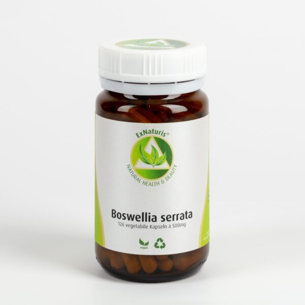 Boswellia serrata (126 Kapseln à 500mg, 65% Boswelliasäuren) Weihrauch