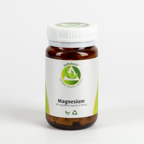 Magnesium (180 Kapseln à 500mg, 100% Trimagnesiumdicitrat)
