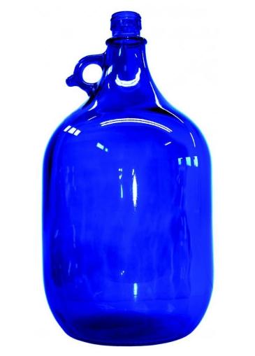 Wasserflasche 5 Liter | Blauglas | mit Schraubdeckel