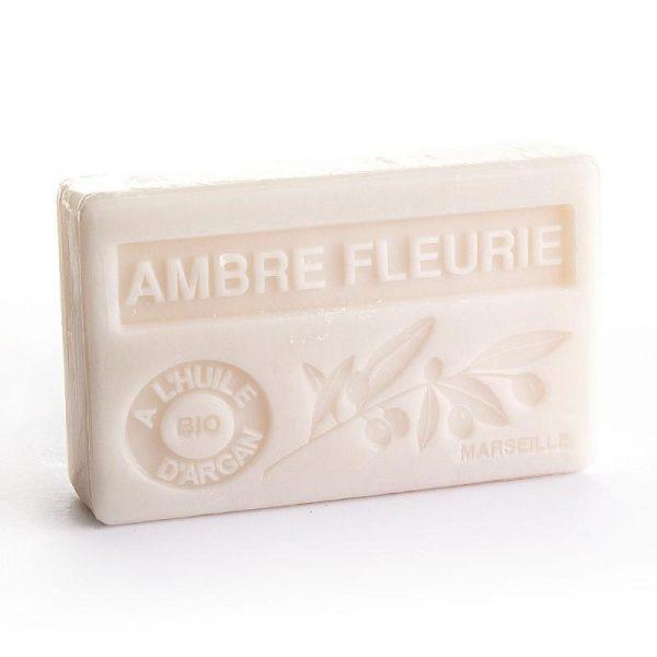 """Marseille-Seife mit Bio-Arganöl """"Ambre Fleurie"""" (100gr.)"""